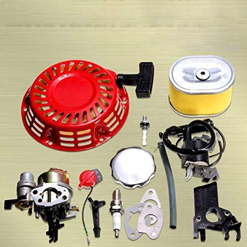 QIUXIANG Ajuste for Honda GX160 GX200 5.5HP Motor de carburador Kit de Retroceso Bobina de Encendido de Chispa del Filtro de Aire del Enchufe