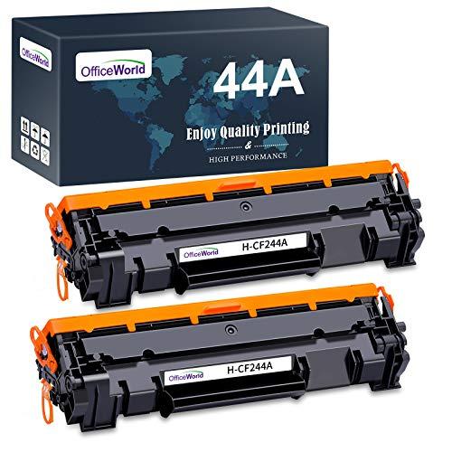 OFFICEWORLD CF244A 44A Reemplazo para HP 44A CF244A Cartucho de toner Compatible con HP LaserJet Pro M15 M15a M15w M16 M16a M16w M17 M17a M17w, HP LaserJet MFP M28 M28a M28w M29 M29a M29w (2 Negro)