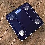 KOZOZO Bluetooth Lichtenergie Körperfettwaage Elektronische Waage Gewichtskala Messung Fett...