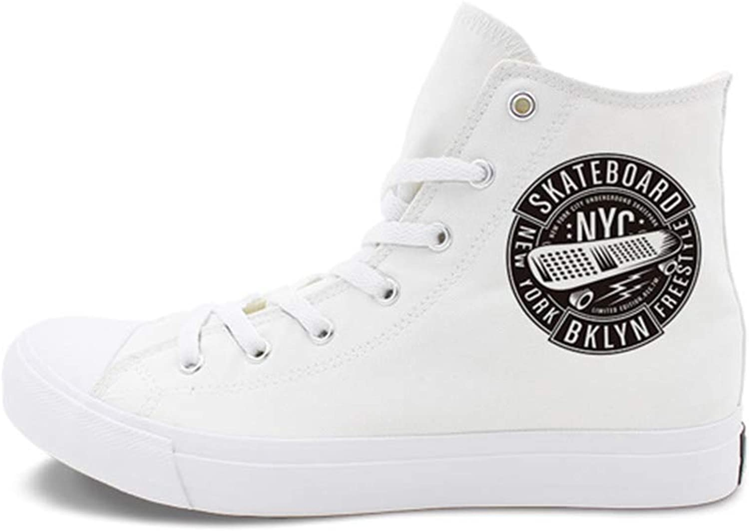 Unisex shoes Spring & Fall Canvas Cycling shoes Fashion Street Dance shoes Unisex Sneakers Non-Slip Vulcanized shoes (color   White, Size   49)