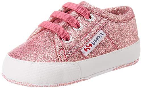 Superga Mädchen 4006-microlameb Babyschuhe, Pink (Pink Lip Rose A01), 18 EU