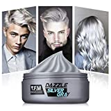Y.F.M Tinte de Pelo Gris Cera Cabello Para Pelo Gris Plata, Crema Para Colorante Pelo Temporal, Silver Gray Hair Color 120 ml