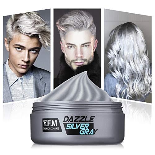 Haar Cream, Y.F.M Haarwachs Unisex DIY Haarformung Silbergraue Cream, Frische und Natürliche Frisur Wax Stylingcreme, Hair Creme geeignet für den täglichen Gebrauch und Partys, Festivals usw. 120g