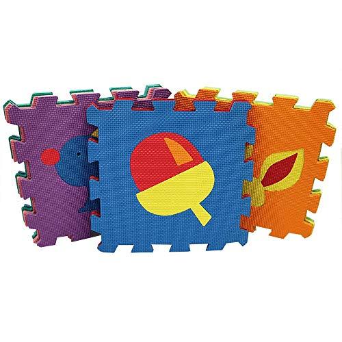 Puzzlequadrate Puzzlematte Bodenmatte Spielteppich Kinderteppich Spielmatte Lernteppich Schadestofffrei nach Neuer RICHTLINIE (EU) 2015/2115 (9 puzzlematte)