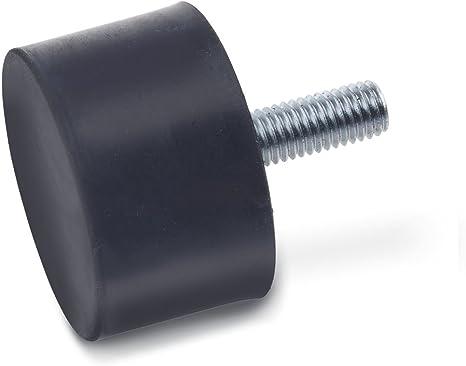 GN 913.3-M4-6-KU Gewindestifte mit Kunststoff-Zapfen Ganter Normelemente Stahl br/üniert 10 St/ück