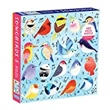 Mudpuppy Songbirds 500 Piece Family Jigsaw Puzzle, Illustrated Songbird Puzzle for Families and Adults with Colorful Birds and Music Notes