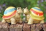 Schildkröte Terakotta Garten Teich Dekofigur Tierdeko Tiere Stückpreis