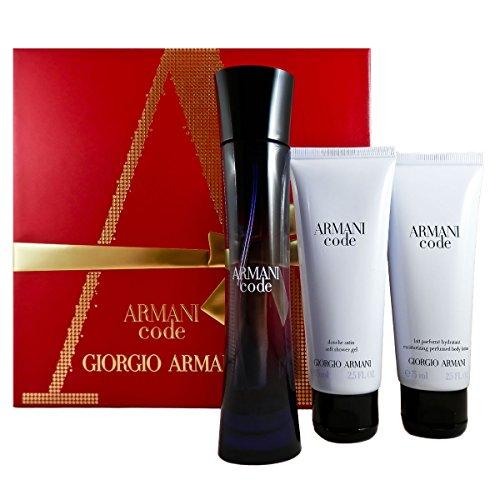 Giorgio Armani Code Femme Geschenkset, 1er Pack (Eau de Parfum 50 ml, Körperlotion 75 ml, Duschgel 75 ml)