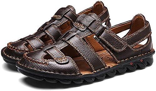 Sandales en Plein Air D'été Sandales Hommes Hommes Randonnée Chaussures Plage avec Toucher Réglable Imperméable à l'eau Sandale Sport Léger Marche pour Hommes Plage Décontracté  profitez de 50% de réduction