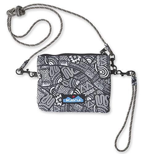 KAVU Renrose Crossbody Wallet with Rope Strap - Doodle Ribbon