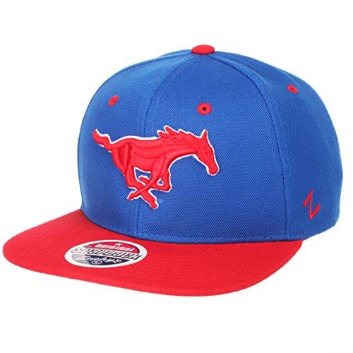 ZHATS Z11 6-Panel Superstar Snapback Cap – NCAA Flat Bill, One Size Adjustable Baseball Hat, SMU Mustangs