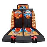 VGBEY Juego de Disparos de Baloncesto, Arcade Juguete de Inteligencia de Escritorio de Juego de Baloncesto de Mesa con 6 Bolas 2 Jugadores para Niños