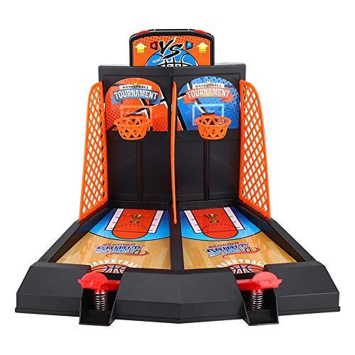VGEBY Basketball Schießen Spiel, 2 Spieler Kinder Basketball Tisch Arcade Spiel Desktop Intelligence Toy Set mit 6 Kugeln