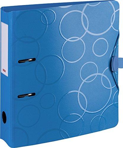 Brunnen 102042733 Colour Code Ordner (aus strapazierfähigem Kunststoff, Polyfoam) blau/azur