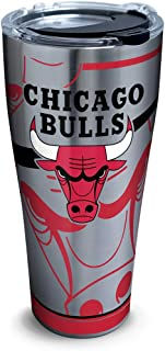 Tervis 1281696 Nba Chicago Bulls Paint Stainless Steel Tumbler with Lid,  30 oz,  Silver
