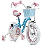 Product Image of the Royalbaby Girls Bike Stargirl 14 Inch Girl's Bicycle With Training Wheels Basket...