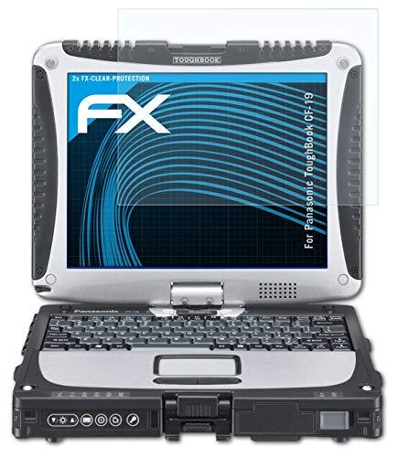 atFolix Schutzfolie kompatibel mit Panasonic ToughBook CF-19 Folie, ultraklare FX Displayschutzfolie (2X)