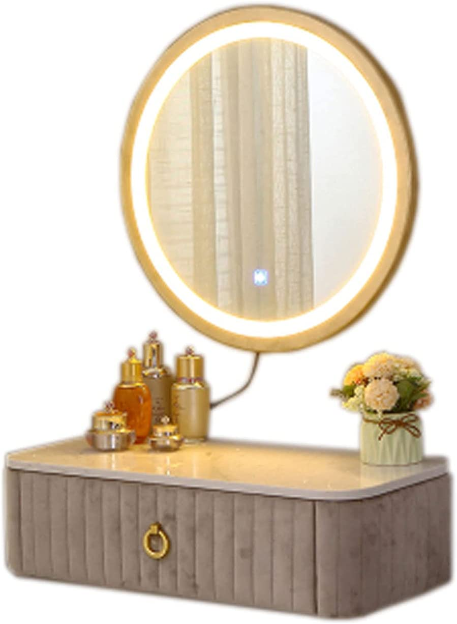 HXGL-Drum Mail order cheap Wall-Mounted Dressing Table Luxury Max 84% OFF Light Bedroom Small