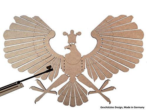 Schützenvogel 3er Set, Schützenadler, Zielscheibe, Schießspaß Luftgewehr, Schützenfest, Schießziel, Holzvogel, MADE IN GERMANY