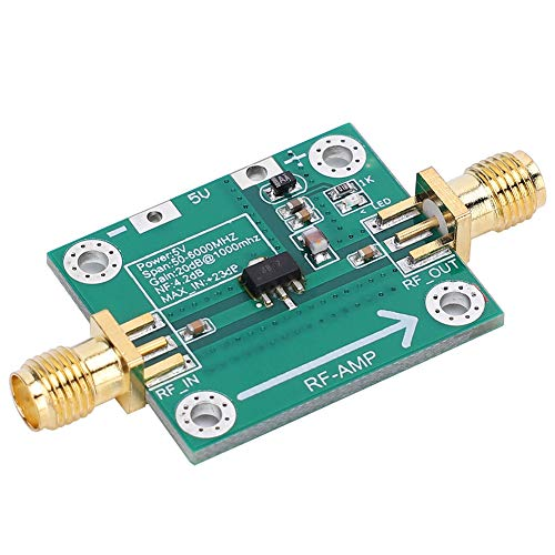 YOPOTIKA RF Amplifier Module Low Noise Gain 20dB 50‑6000MHz RF WideBand Amplifier Module Green