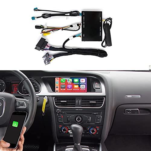Road Top Wireless Carplay Android Auto Module Caja receptora para Audi S4 S5 A4 A5 (2009-2015 Año) para Q5 (2009-2017 Año) con 2G MMI, Decodificador Carplay Retrofit Kit, Soporte Mirror Link, Cámara