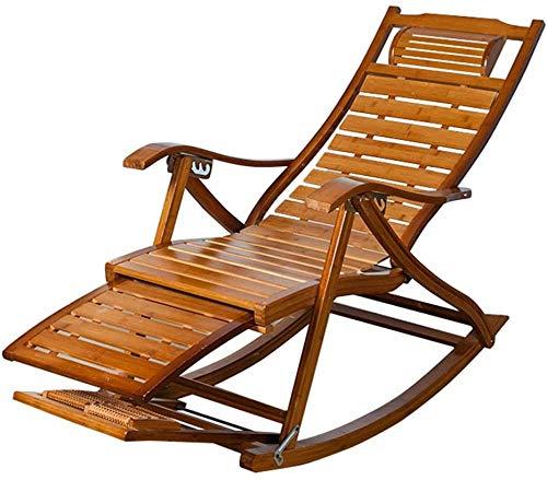 WUY Silla Mecedora del Vintage para jardín balcón Sala de Estar  ...