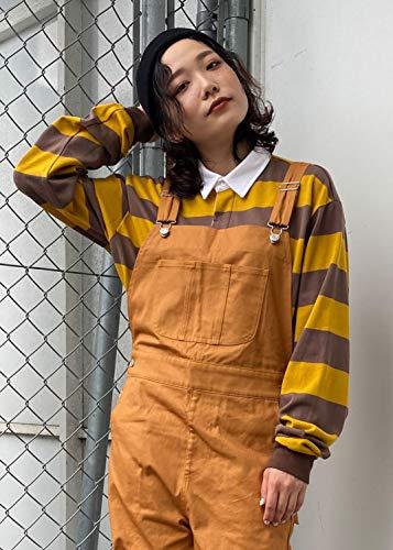 『SPINNS ボーダーラガーシャツ マスタード -』の2枚目の画像