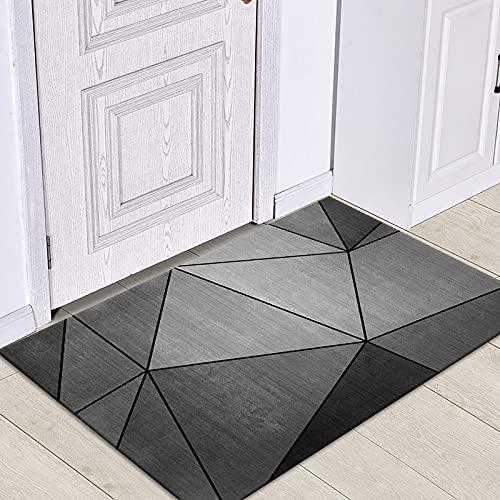 WESG Alfombrillas de impresión geométricas Modernas, Alfombrillas Antideslizantes de Cocina, Alfombrillas de Sala de Estar y alfombras absorbentes de baño NO.6 50X80cm
