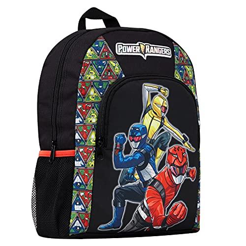 Power Rangers Mochila Escolar, Mochila Niño Beast Morphers, Mochila Infantil para Colegio Deporte Viajes, Regalos Para Niños y Adolescentes