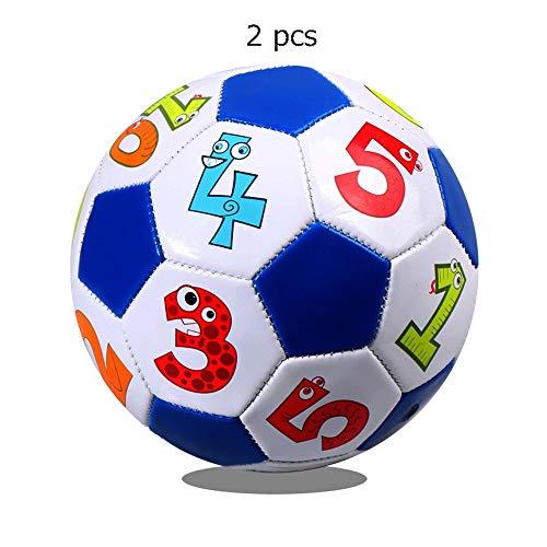 Kraftstationen Fußball Spielzeug Für Kinder Kleinkinder Mädchen Jungen Outdoor Sport Alter 1-4 Jahre Alt Set Von 2 Mini Fußball Offizielle Größe 2 Weiche Bälle (Color : C3, Size : 2)