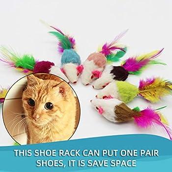 Le Chat fournit Un Jouet pour Chat pour Animaux de Compagnie Tease Cats Clockwork Mouse and Cat Toy Little Mouse Cat Toy Mouse Plush JohnJosen