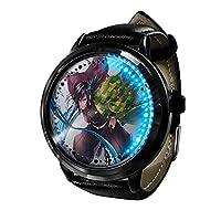 デーモンブレードLED ウォッチコスプレアニメファッションカジュアルレザーウォッチ人気のベルト耐久性ウォッチウ 3D 防水ユニセックスギフトウォッチ-A3