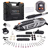 TACKLIFE 200W Rotary Tool Kit with LCD Display 4 Attachments Including Flex Shaft, Shield, Grip and Cutting Guide, Versatile Accessories Perfect for DIY Projects and Home Improvement-RTD37AC