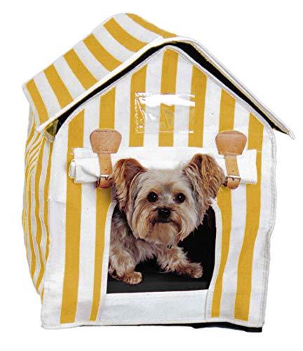 artra design GmbH hondenmand dierbed Cabina MIAU geel-wit