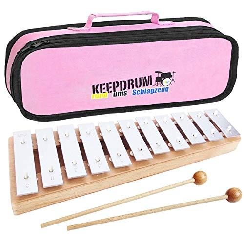 Sonor GP Glockenspiel Sopran + keepdrum MB01PK Tasche Pink