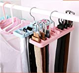 MosQuick Rotating Space Saving Belt Hanger,Scarf Hanger, Tie Hanger, Rotating Hook, Multipurpose Storage Rack Blue Color 1 Pc