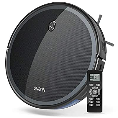 GOOVI by ONSON Robot Vacuum, 1800Pa Robotic Vacuum Cleaner (Slim) Strong Suction, Quiet Multiple Cleaning Modes, Self-Charging Vacuum, for Pet Hair, Hard Floor, Medium-Pile Carpet