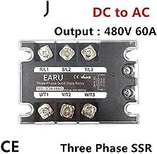 TSR-60DA SSR-60DA Three Phase Solid State Relay DC 5-32V Input Control AC 90~480V Output Load 60A 3 Phase SSR High Power DA4860