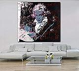 CWSWP Wandkunst Bild Poster, Beethoven von Andy Warhol Modern HD Leinwanddruck Gemälde Bilder, Für Wohnzimmer Schlafzimmer Wohnkultur 40 X 40Cm Ohne Rahmen