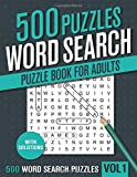 500 Word Search Puzzle Book for Adults: Big Puzzlebook with 100 Hidden Word Find Puzzles for Seniors, Adults and all other Puzzle Fans