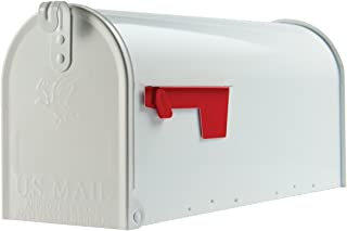 Best Gibraltar Mailboxes Elite Medium Capacity Galvanized Steel White, Post-Mount Mailbox, E1100W00 Review