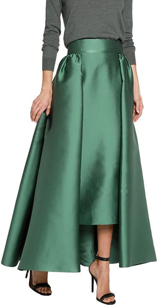 Lisong Sale Special Price High order Women Floor Length Skirt Pleated Party Taffeta