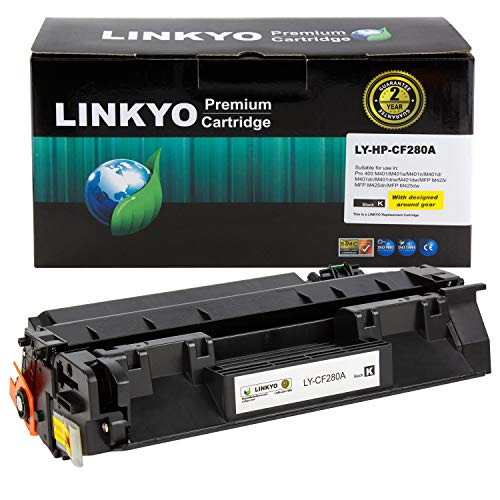 LINKYO Compatible Toner Cartridge Replacement for HP 80A CF280A (Black)