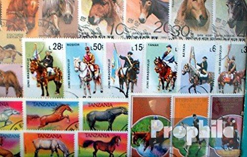 Prophila Collection Motivazioni 50 Diversi Cavalli e Corsa Francobolli (Francobolli per i Collezionisti) Cavalli