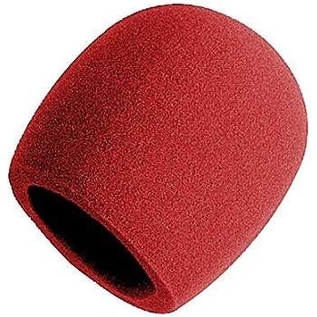On-Stage Foam Ball-Type Microphone Windscreen, Red