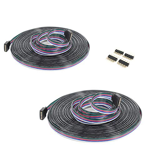 2pcs/pack 5m LED RGBW-Strip 5 pin LED Verlängerungskabel LED Streifen Verbinder Verlängerung Anschluss Verteiler Kabel für 5 polig RGBW 5050 3528 2835 LED Streifen Licht