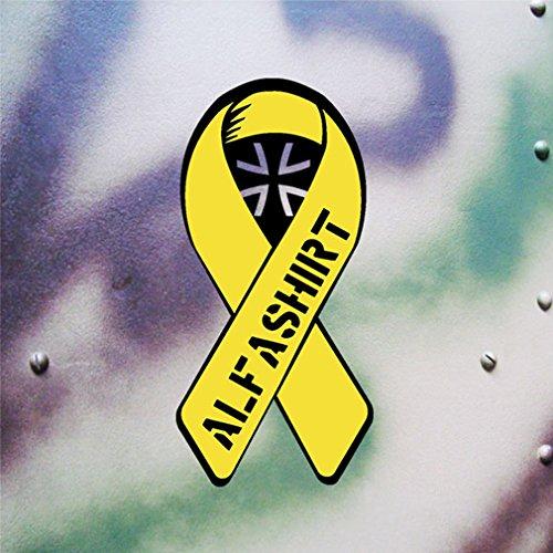 Aufkleber/Sticker Gelbe Schleife 2 Solidarität Bundeswehr Reservist 10x5cm A622