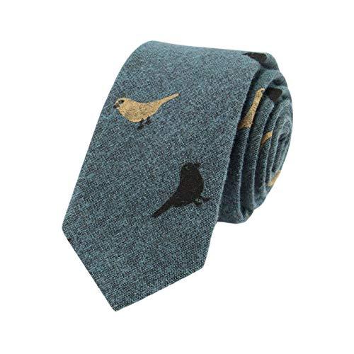 JUNGEN Corbata de Informal para Hombres Corbata de Estampada de pajarito Corbata...