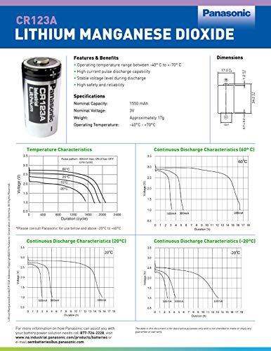 Panasonic Industrial US Top Version CR123A Photo Power Lithium Batterie, 10 Stück