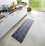 Waschbarer Küchenläufer Flower Dots Grau 50x150 cm | 102452